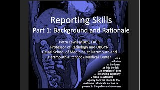 Radiology Reporting skills 1: Background