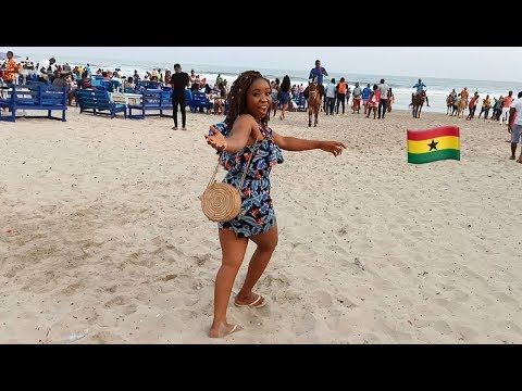 I HAD THE MOST FUN ON THE BEACH WITH MY GHANAIAN FRIENDS// Ft Nappie Briggs//YEAR OF RETURN