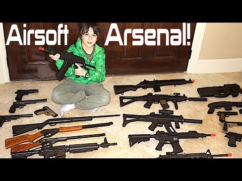 Airsoft Gun Collection with Robert-Andre!