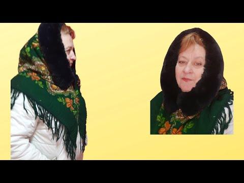 Сшить платок с мехом на голову своими руками