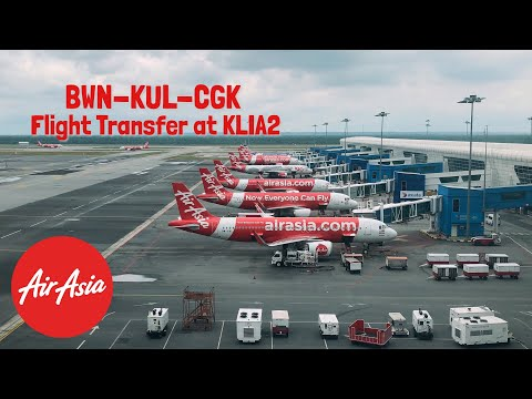 Tutorial TRANSIT di KLIA2 | Flying from Brunei to Jakarta (via KL) with AirAsia