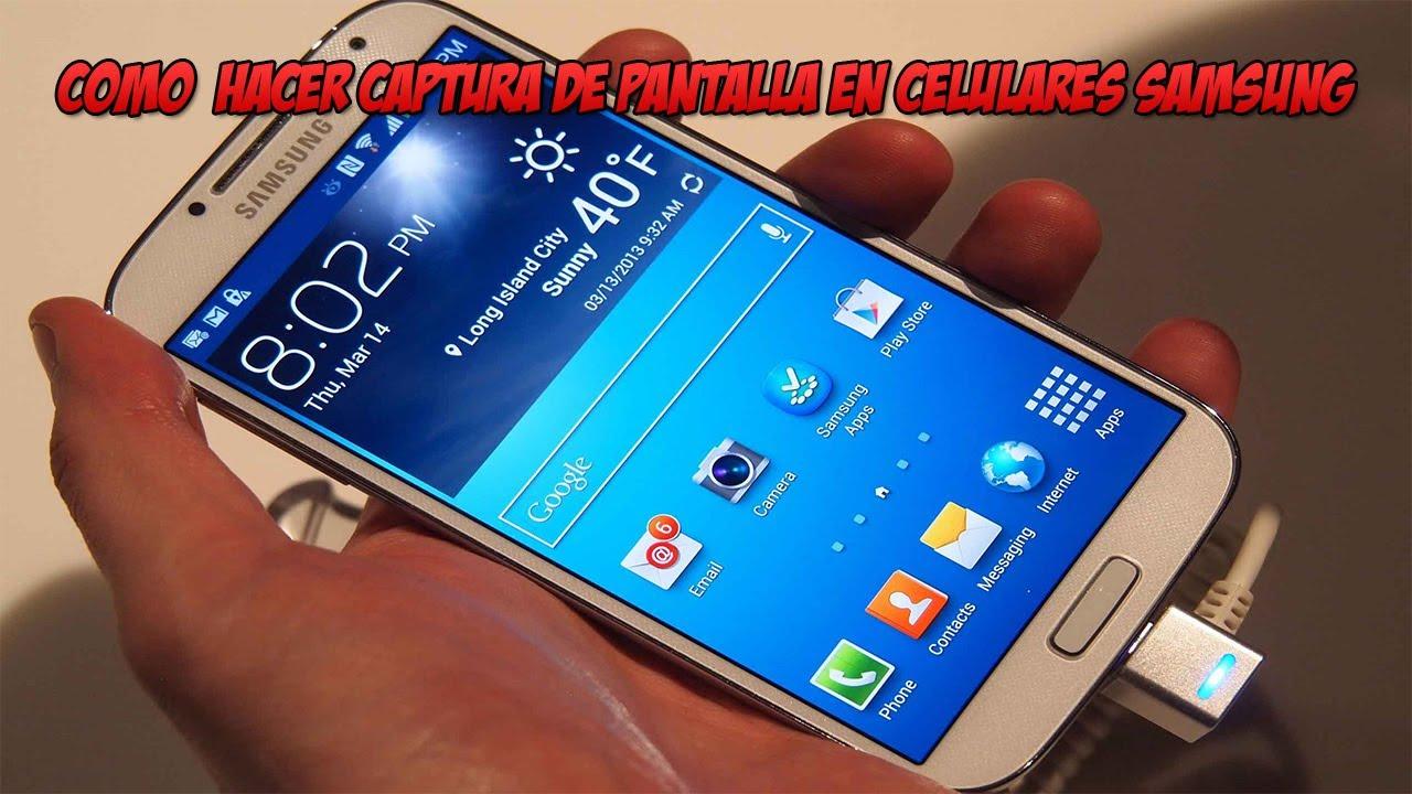 Como Hacer Una Captura De Pantalla A Celulares Samsung