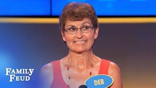 Deb gets LIPPY | Family Feud