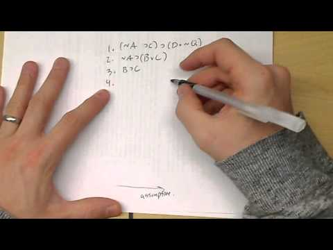Example Probelms in Natural Deduction