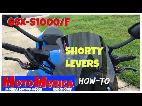 GSX-S1000/F How to install shorty levers: Adjustable Short Levers on GSXS1000