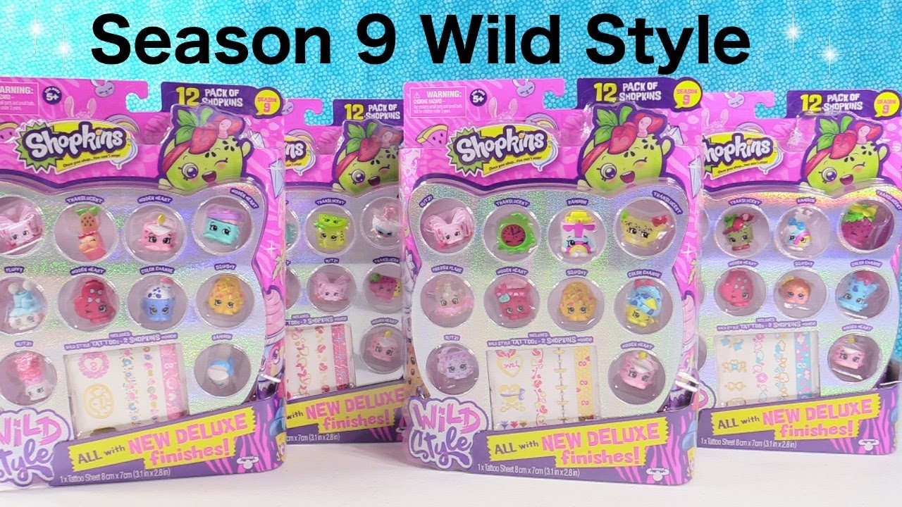 Shopkins Wild Style Season 9 12 Pack Unboxing Squishies