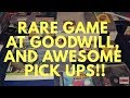Live video game hunting: Big Goodwill score Rare game!!!,plus awesome trade!
