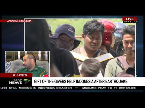 Gift of the Givers help Indonesia after earthquake, despite