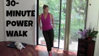 Indoor Walking Exercise  Full Length 30Minute Power Walk (fat burning, walking workout)