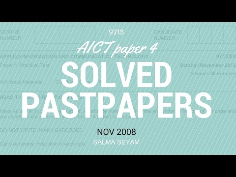 NOV 2008 AICT PAPER 4 9713