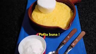 Mămăliga cu brânza și smântâna