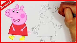PEPPA PIG | How To Draw Peppa Pig | Peppa Pig Doodle Tutorial | Wie zeichnet Peppa Pig