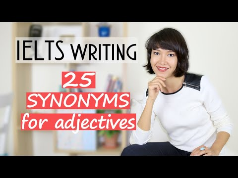 25 SYNONYMS For Commonly Used Adjectives | IELTS Writing VOCABULARY