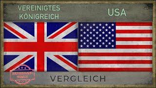 VEREINIGTES KÖNIGREICH vs USA ✪ Welche Armee ist stärker? (2018)
