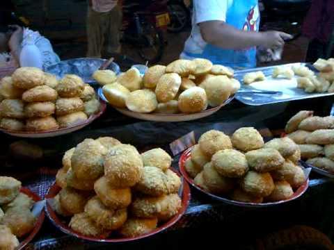 Laos food market