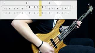 The Ramones - I Wanna Be Sedated (Bass Cover) (Play Along Tabs In Video)