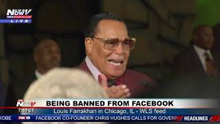 FACEBOOK BAN RALLY: Louis Farrakhan in Chicago, IL