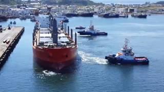 солнечная отшвартовка судна Global Peace