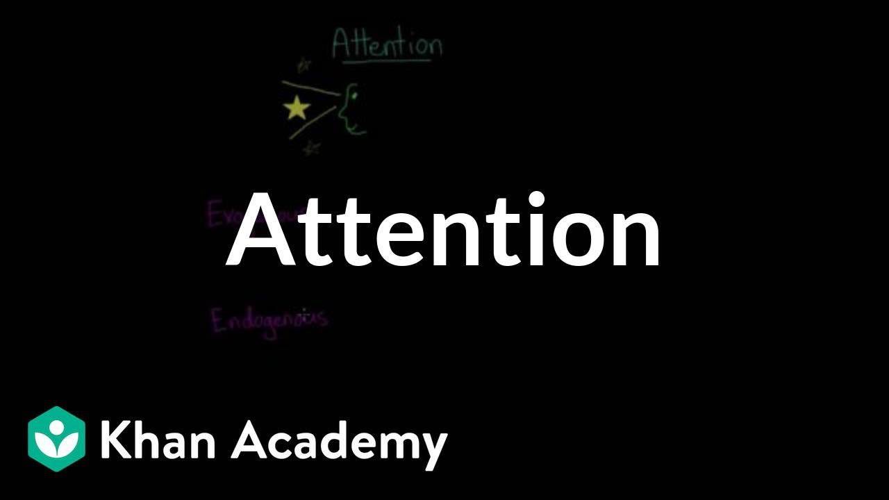 Divided Attention Selective Attention Inattentional