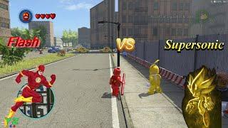 Video Super Sonic vs Flash - the Speedsters  contest (LEGO Marvel Super Heroes) download MP3, 3GP, MP4, WEBM, AVI, FLV Agustus 2018