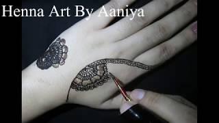 latest beautiful | full hand mehndi | 2018 | henna art by aaniya