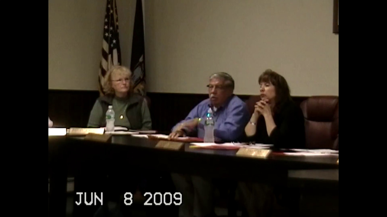 Chazy Town Board Meeting  6-8-09
