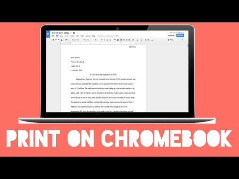How to Print from Chromebook