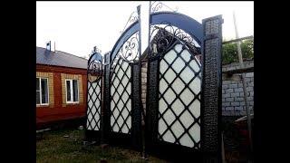как сделать кованые ворота своими руками