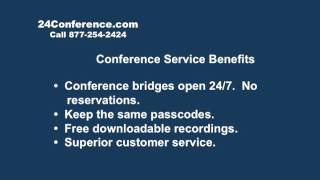 Professional Conference Call Companies, Services -- 24Conference.com