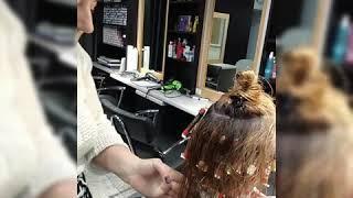 Вертикально-ленточная техника накрутки. Завивка на осветленные волосы.