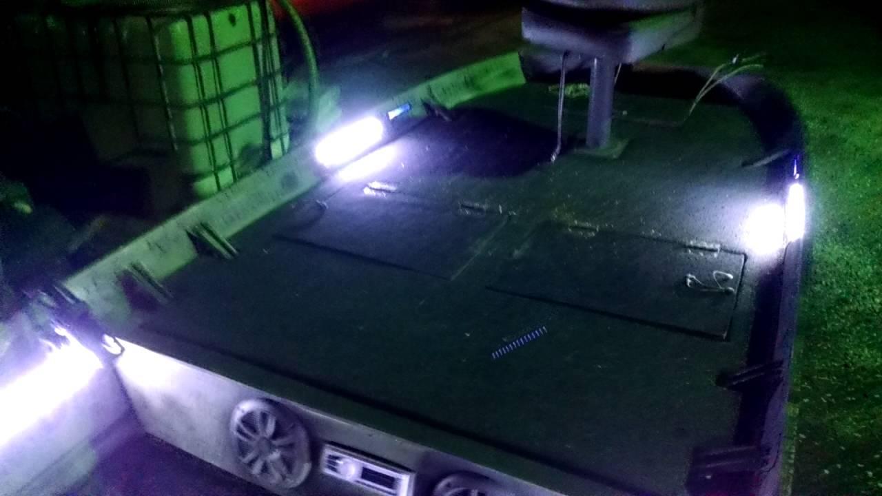 LED lights strips in jon boat for Catfishing LED lights strips in jon boat for Catfishing    YouTube. Exterior Led Lights For Boats. Home Design Ideas