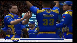 Chennai Super Kings vs Mumbai Indians - 5 Overs IPL Match 2018 Part 2 - EA CRICKET 18 PC Gameplay