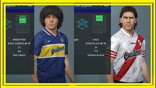 BOCA JUNIORS 80 - 98 & RIVER PLATE 80 - 98 + LINK (PES 2019/ PS4)