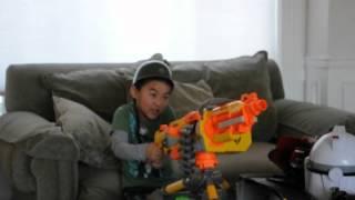 Favorite Xmas Present - NERF machine gun