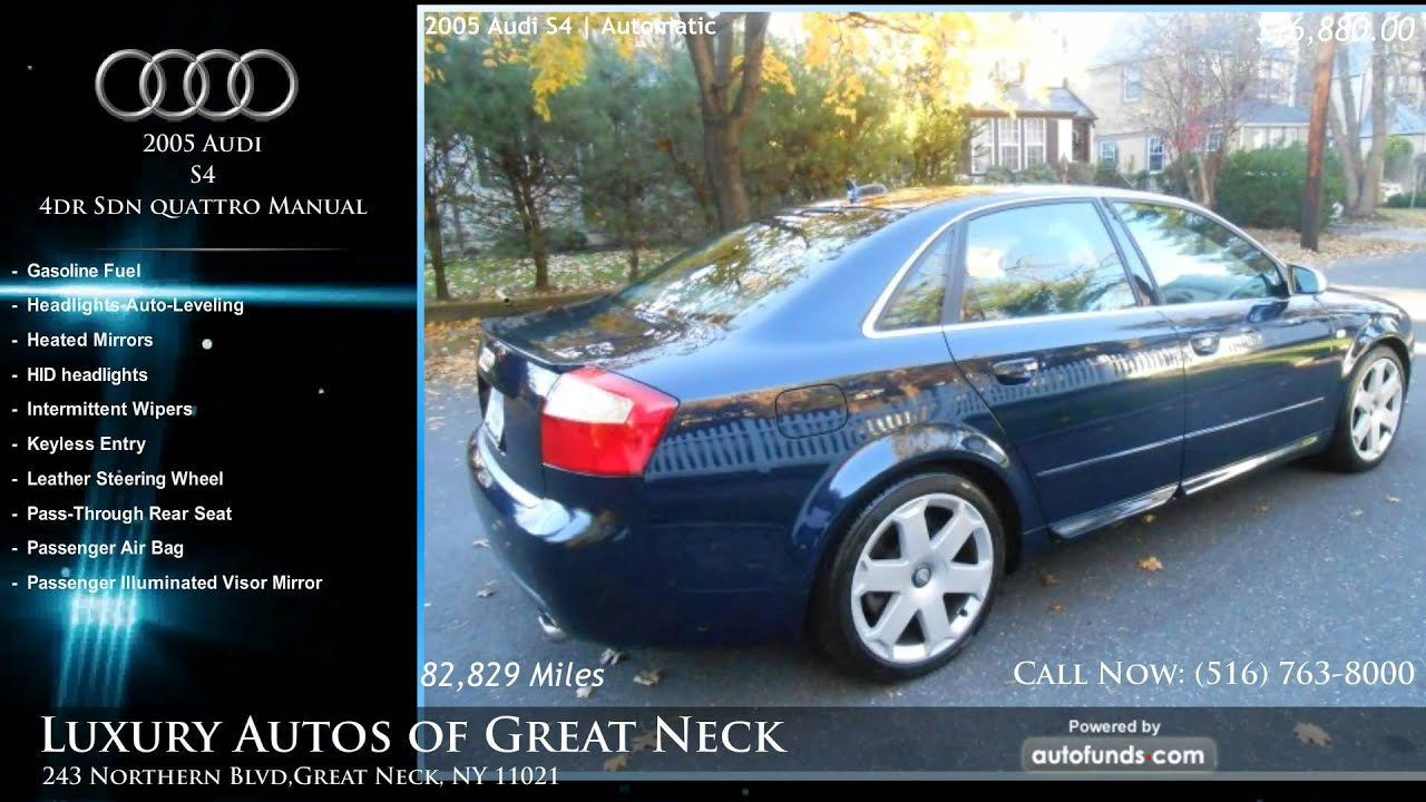used 2005 audi s4 luxury autos of great neck great neck ny sold youtube. Black Bedroom Furniture Sets. Home Design Ideas
