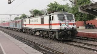 Brilliant terrific acceleration  India's first LHB and fastest high speed Rajdhani train video
