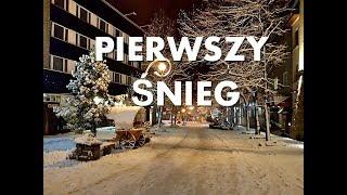 Zakopane Krupówki PIERWSZY ŚNIEG 29.10.2017  Nowotarska24.com zima / winter / snow
