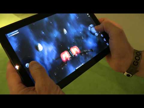 Game experience on Android Honeycomb Tablet @ MWC 2011