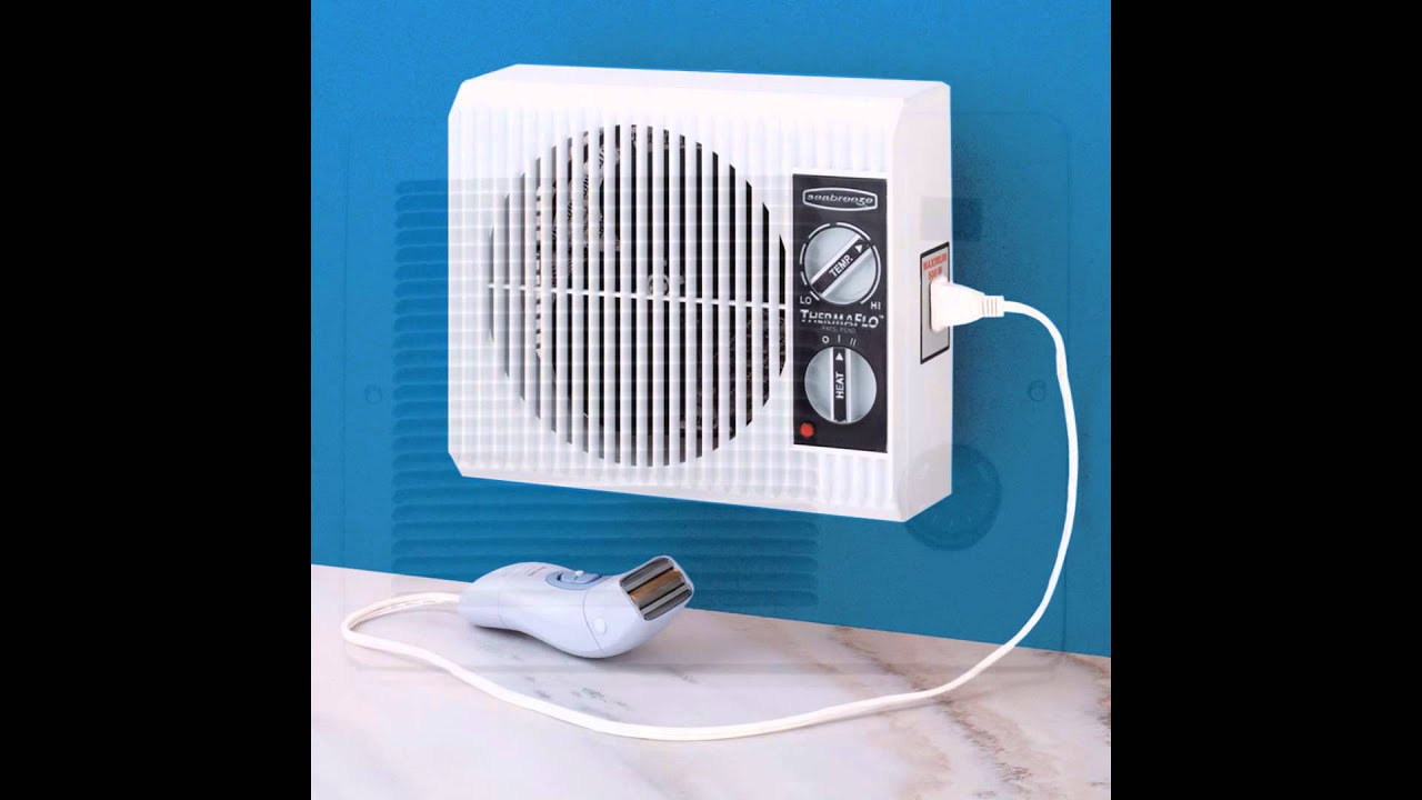 Bathroom heater youtube for How to heat a bathroom