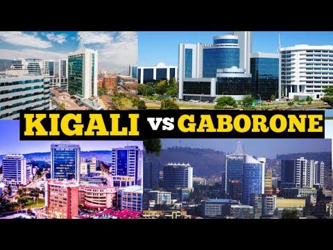 Kigali Rwanda and Gaborone Botswana; Which City is Most Beautiful? Visit Africa