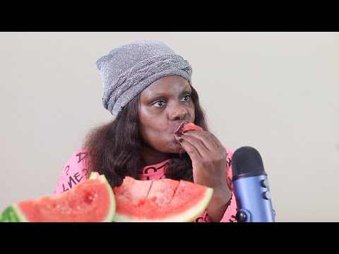 Juicy-Watermelon ASMR Eating Sounds