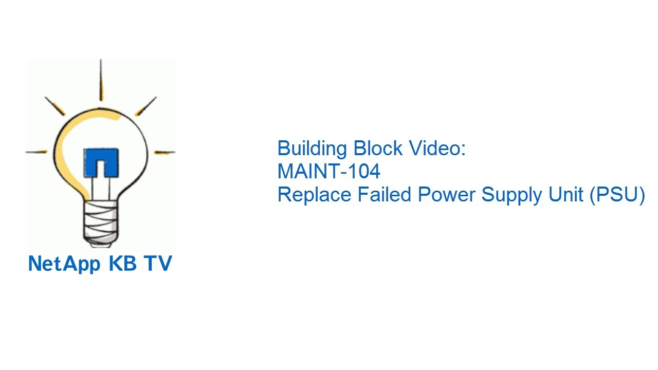 Building block video maint 104 replace failed power supply unit building block video maint 104 replace failed power supply unit psu pooptronica