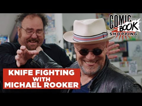 Michael Rooker Teaches Us to Knife Fight  Comic Book Shopping Special