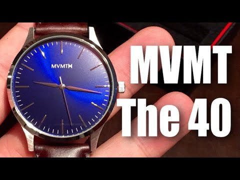 b6ed1a5fc1ced MVMT The 40 - blue / brown leather watch with quick release leather band