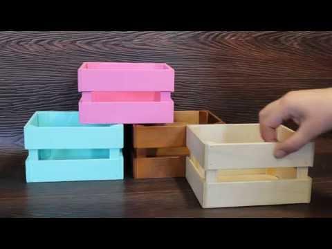 Декоративные ящики для цветов и подарков