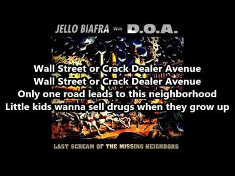 Jello Biafra with D O A  -  Full Metal Jackoff - Lyrics