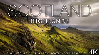 (4K) Scotland Highlands by Drone! + Chillout Music - Nature Relaxation™ Aerial Film - Isle of Sky