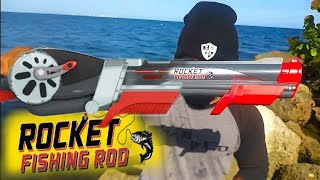 ROCKET FISHING ROD Catches Saltwater FISH!!!