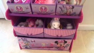 Minnie Mouse Disney Toy Organizer / Organizador de Juguetes Minnie Mouse Disney