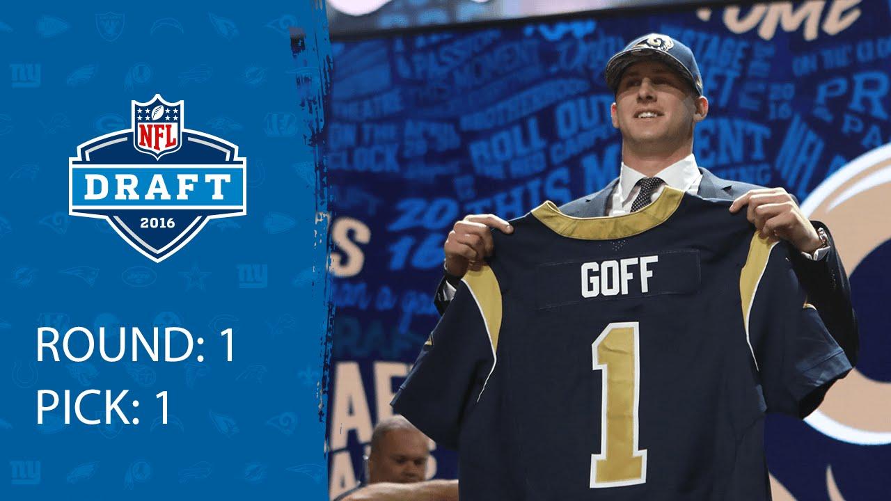 Jared Goff Qb Pick 1 Los Angeles Rams 2016 Nfl
